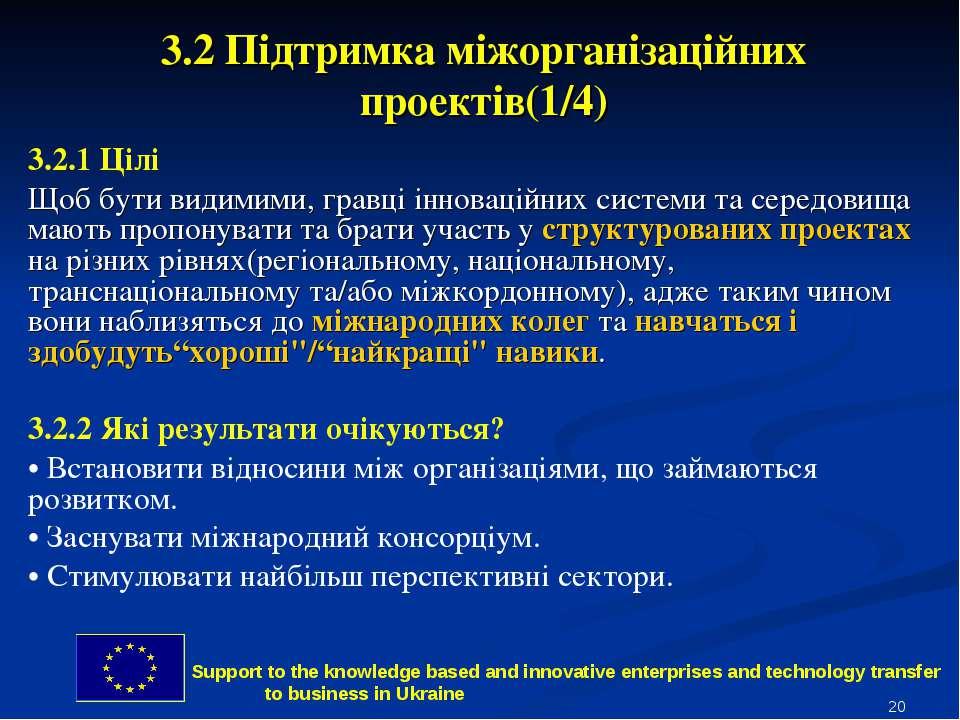 * 3.2 Підтримка міжорганізаційних проектів(1/4) 3.2.1 Цілі Щоб бути видимими,...