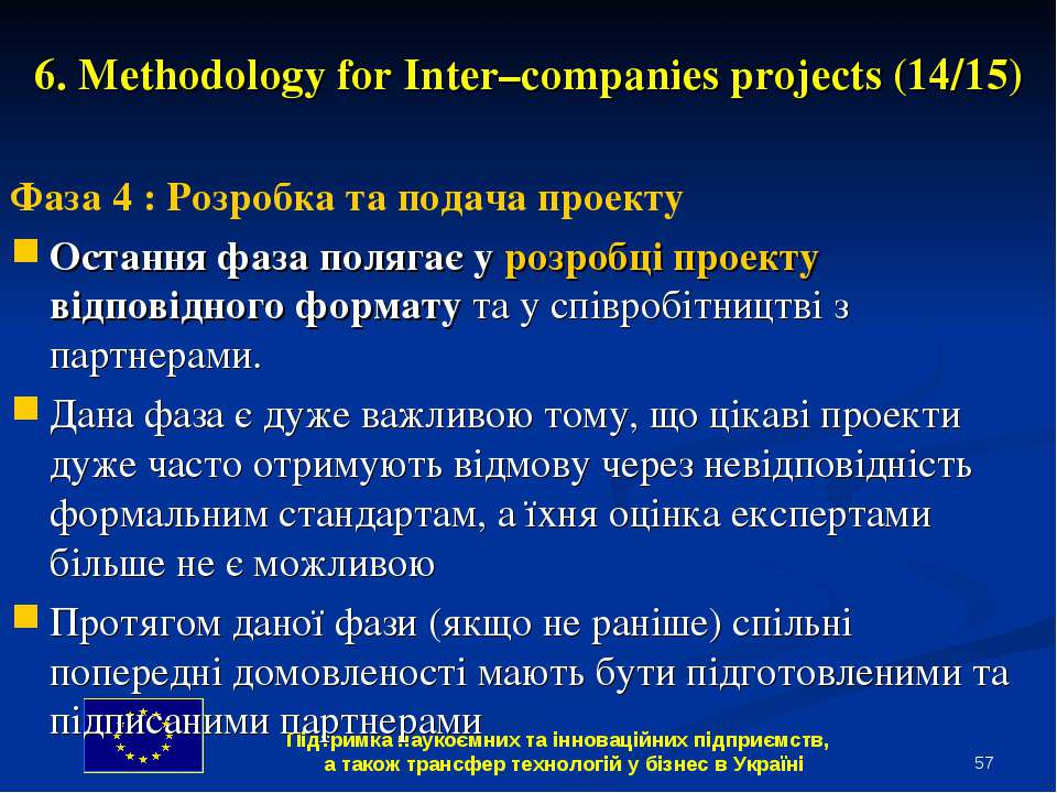* 6. Methodology for Inter–companies projects (14/15) Фаза 4 : Розробка та по...