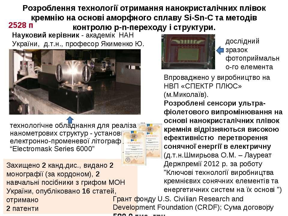 * Захищено 2 канд.дис., видано 2 монографії (за кордоном), 2 навчальні посібн...