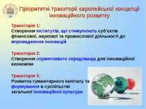 Пріоритетні траєкторії європейської концепції інноваційного розвитку Траєктор...