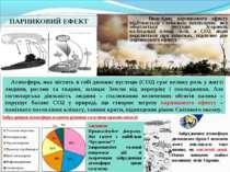 ПАРНИКОВИЙ ЕФЕКТ Внаслідок парникового ефекту відбувається глобальне потеплін...