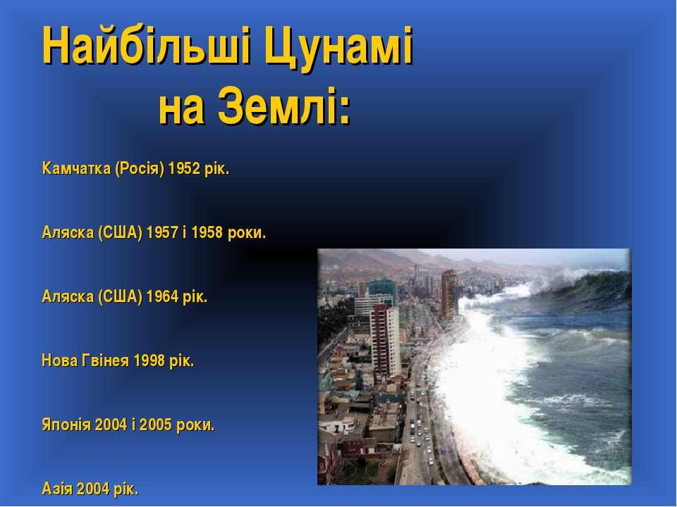 Найбільші Цунамі на Землі: Камчатка (Росія) 1952 рік. Аляска (США) 1957 і 195...
