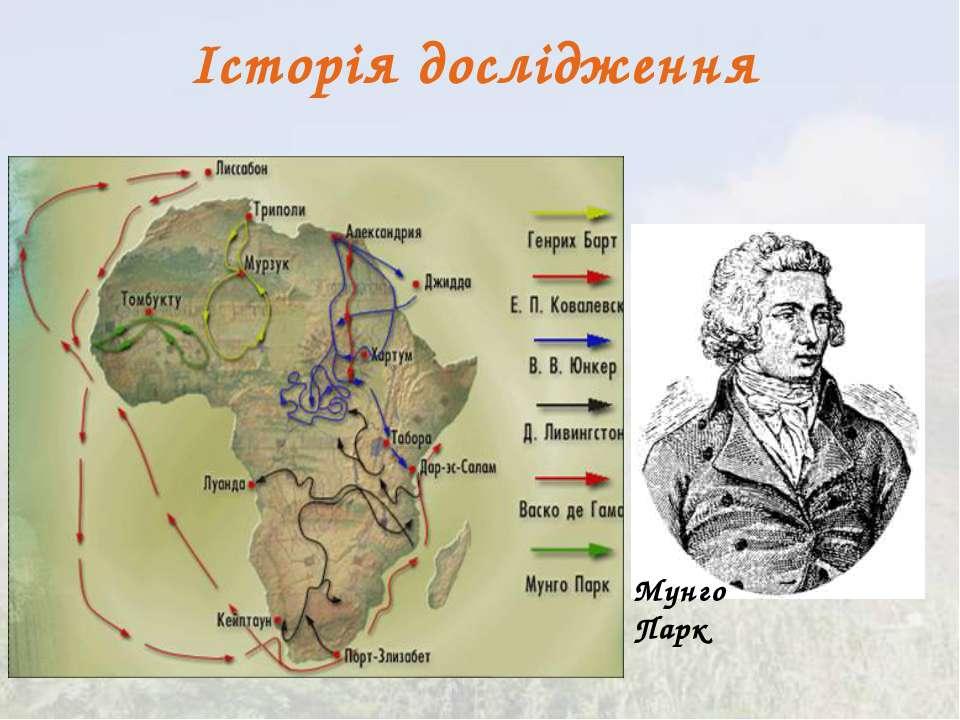 Історія дослідження Мунго Парк