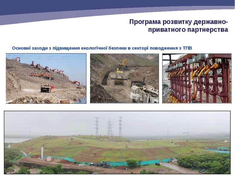 Основні заходи з підвищення екологічної безпеки в секторі поводження з ТПВ Пр...