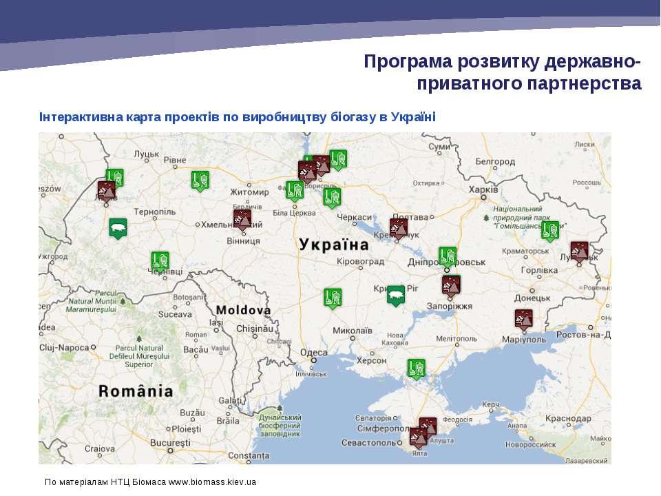 Інтерактивна карта проектів по виробництву біогазу в Україні Програма розвитк...