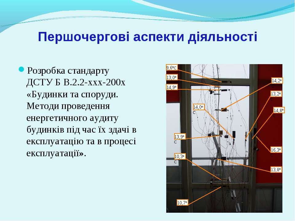 Першочергові аспекти діяльності Розробка стандарту ДСТУ Б В.2.2-ххх-200х «Буд...