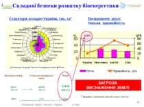 Структура площин України, тис. га* * Державний земельний кадастр України (200...