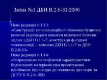 Зміна №1 ДБН В.2.6-31:2006 Нова редакція п.1.13: «Конструкції теплоізоляційно...
