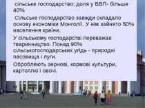сільське господарство: доля у ВВП- більше 40% Сільське господарство завжди ск...