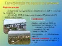 Водопостачання Централізованим водопостачанням забезпечено 15,5 % населених п...