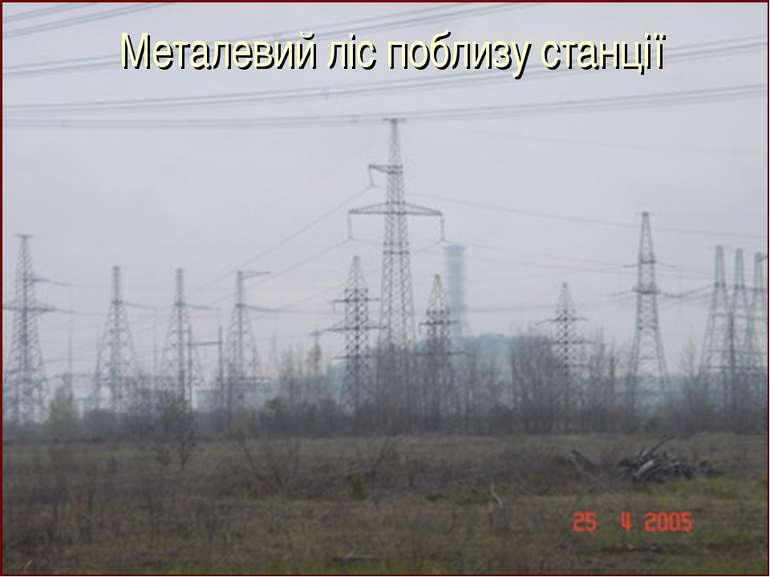 Металевий ліс поблизу станції
