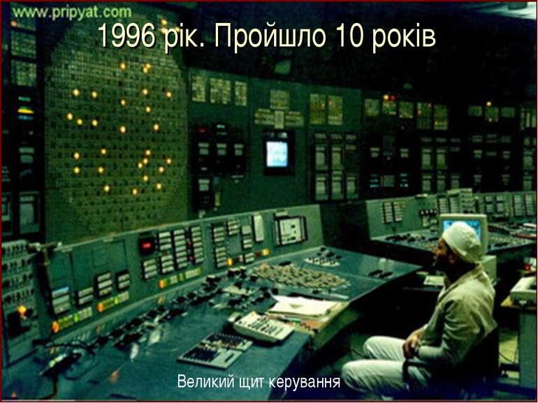 1996 рік. Пройшло 10 років Великий щит керування