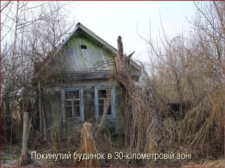 Покинутий будинок в 30-кілометровій зоні