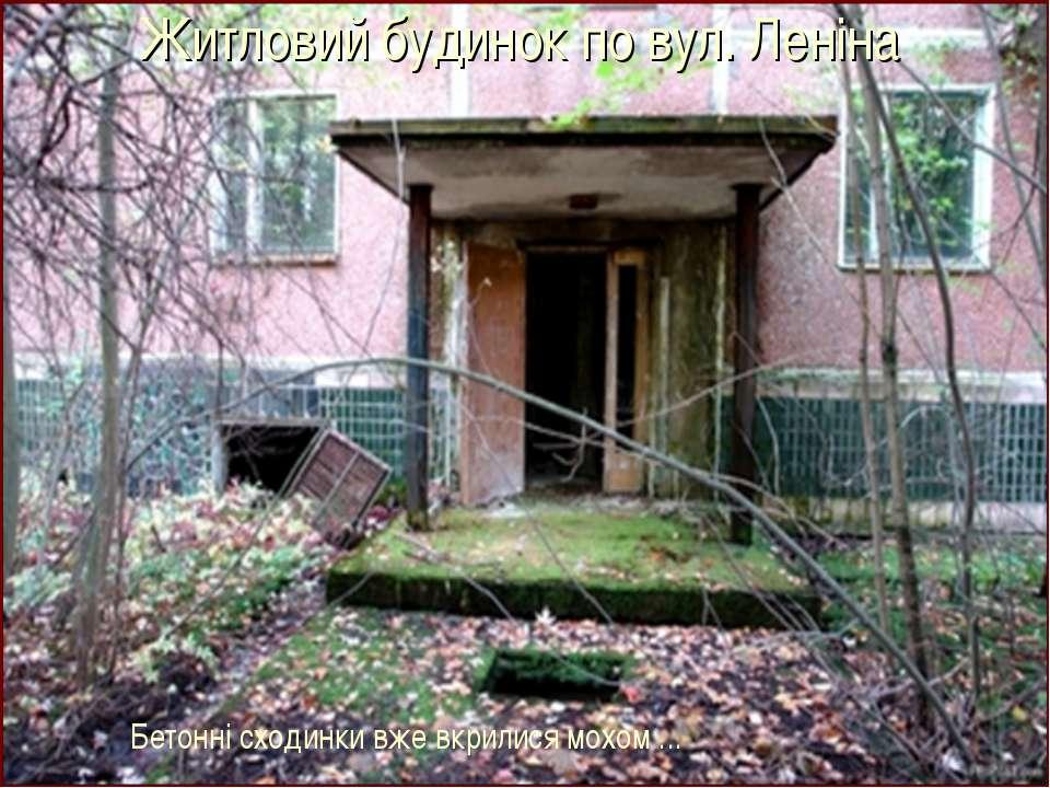 Житловий будинок по вул. Леніна Бетонні сходинки вже вкрилися мохом ...