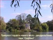 """Прикраса і гордість нашого міста – дендрологічний парк """"Софіївка"""""""