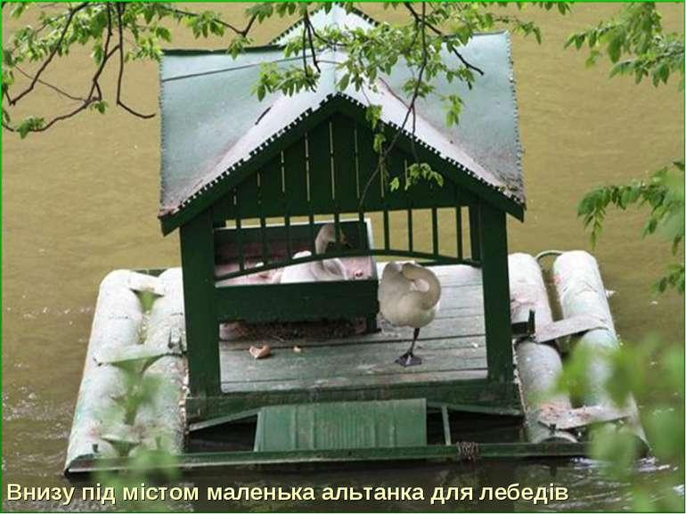 Внизу під містом маленька альтанка для лебедів
