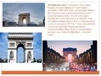 Тріумфальна арка - монумент у 8-му окрузі Парижа на площі Шарля де Голля (Зір...