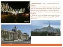 """Єлисейські поля - одна з головних магістралей Парижа. Єлисейські поля - """"найк..."""