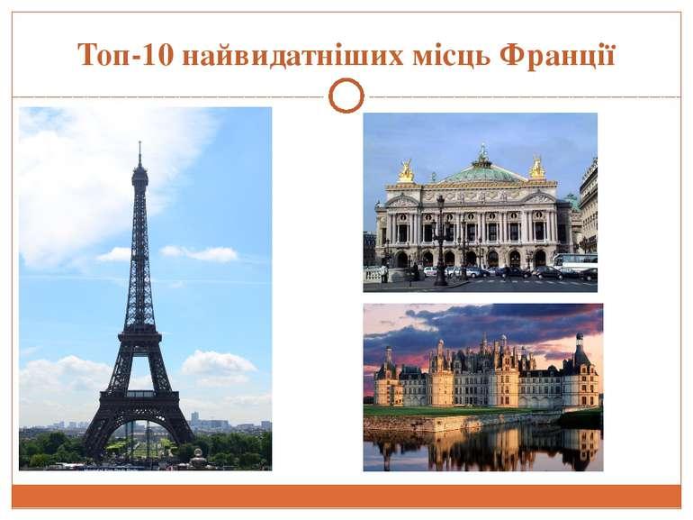 Топ-10 найвидатніших місць Франції