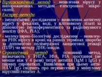 Вірусоскопічний метод - виявлення вірусу у випорожненнях методом електронної ...