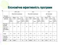 Економічна ефективність програми