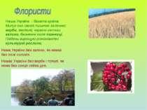 Наша Україна - багата країна. Милує око своєю пишною зеленню: верби, тополі, ...