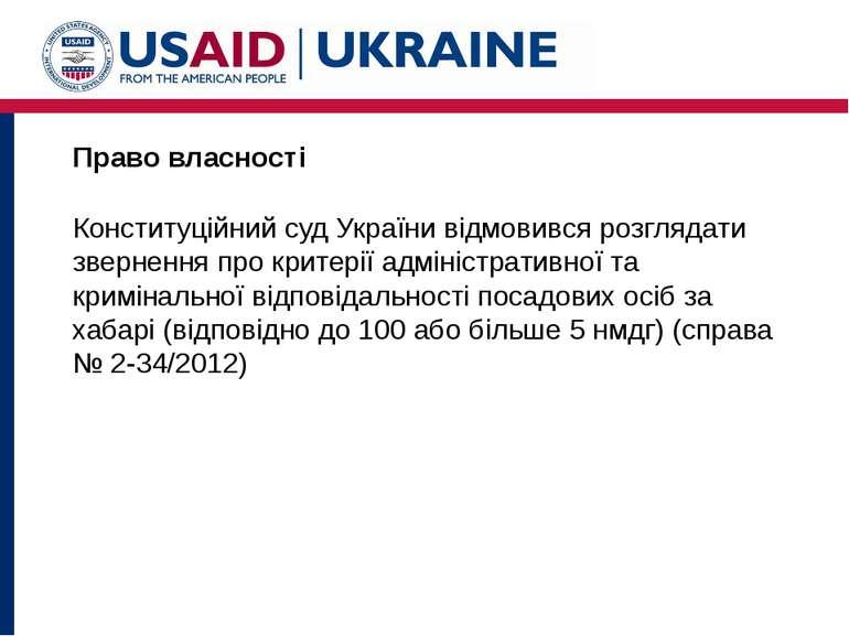 Право власності Конституційний суд України відмовився розглядати звернення пр...