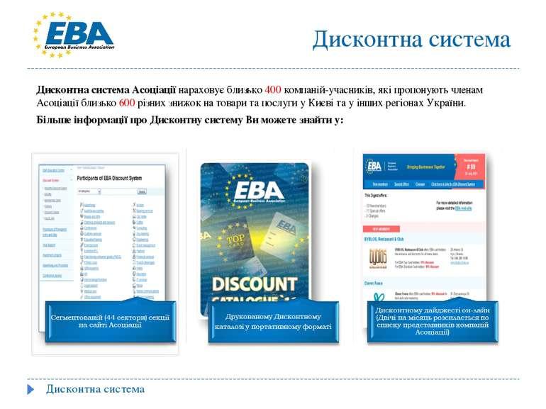 Дисконтна система Асоціації нараховує близько 400 компаній-учасників, які про...