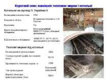 Короткий опис зовнішніх теплових мереж і котельні Котельня на вулиці Л. Украї...