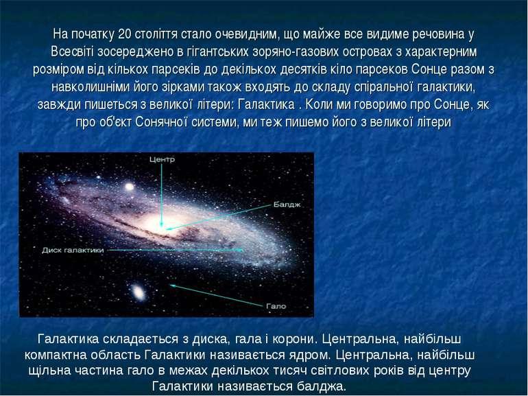 На початку 20 століття стало очевидним, що майже все видиме речовина у Всесві...