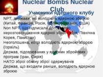 Nuclear Bombs Nuclear Club NPT, держави, які володіють ядерною зброєю (Китай,...