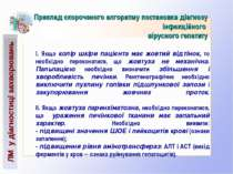 ЛМ у діагностиці захворювань Приклад скороченого алгоритму постановки діагноз...