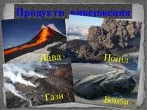 Продукти виверження Лава Попіл Гази Бомби