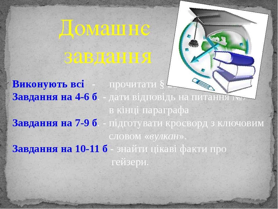 Домашнє завдання Виконують всі - прочитати § 22 Завдання на 4-6 б. - дати від...