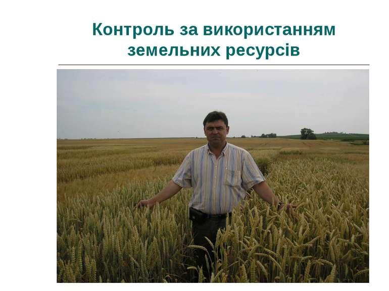 Контроль за використанням земельних ресурсів