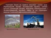 Територія багата на корисні копалини: залізну руду (Криворізький басейн, Біло...