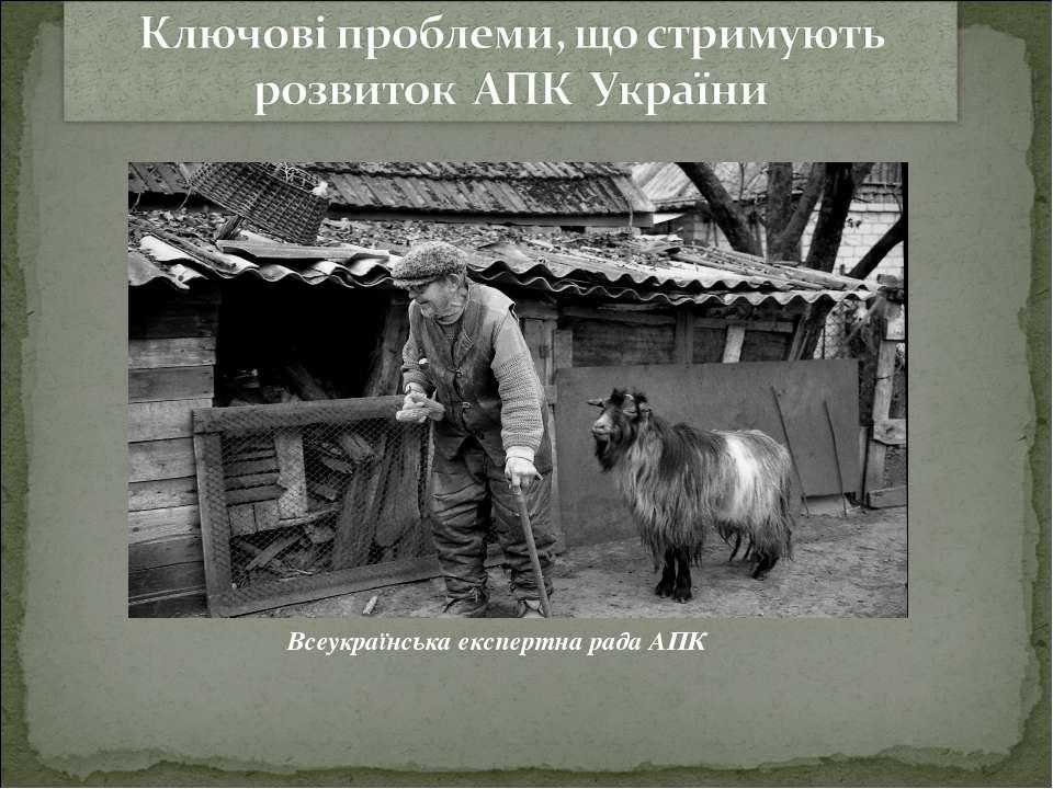Всеукраїнська експертна рада АПК