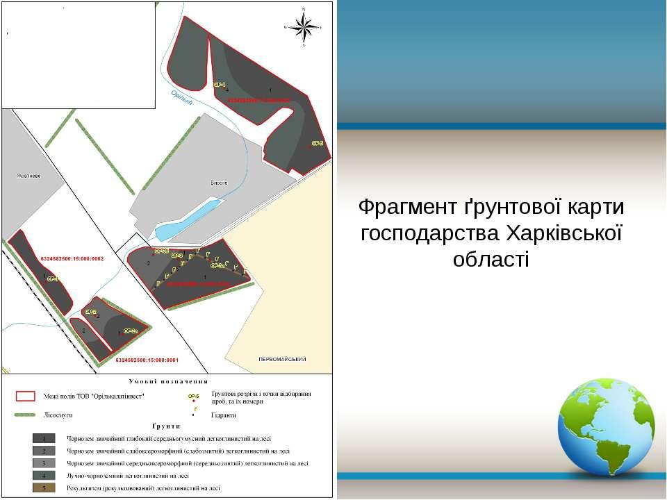 Фрагмент ґрунтової карти господарства Харківської області