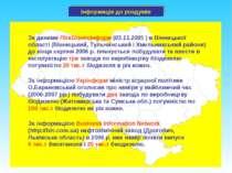 Інформація до роздумів За даними ЛігаБізнесІнформ (03.11.2005 ) в Вінницької ...
