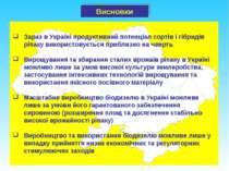 Зараз в Україні продуктивний потенціал сортів і гібридів ріпаку використовуєт...