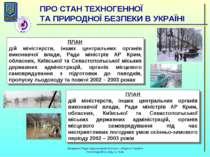 ПЛАН дій міністерств, інших центральних органів виконавчої влади, Ради мініст...