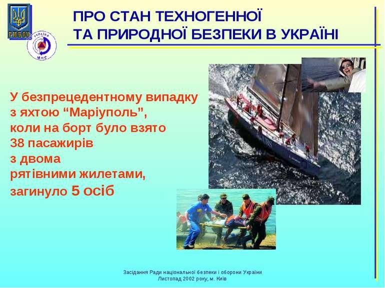 """У безпрецедентному випадку з яхтою """"Маріуполь"""", коли на борт було взято 38 па..."""