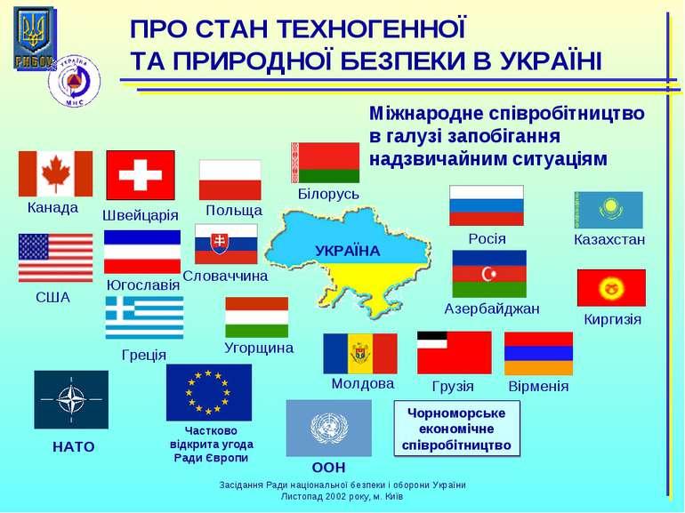 Міжнародне співробітництво в галузі запобігання надзвичайним ситуаціям Білору...