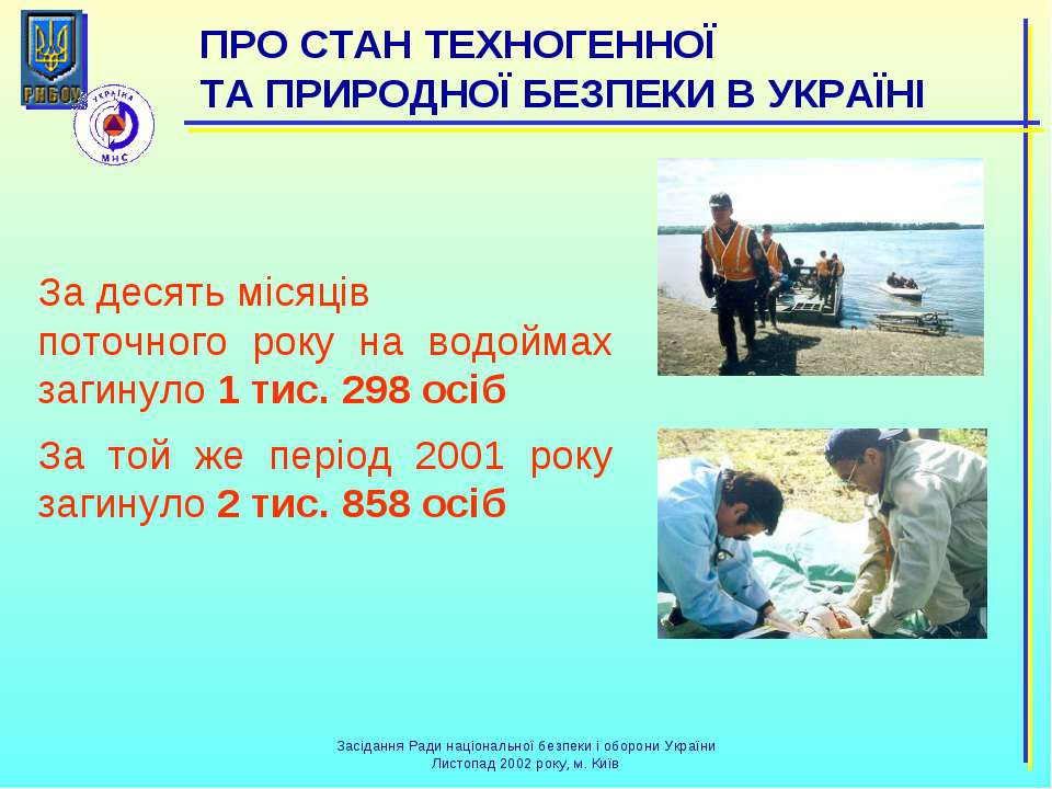 За десять місяців поточного року на водоймах загинуло 1 тис. 298 осіб За той ...