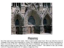 Reims One of the main tourist centers of the country - Reims, located in nort...
