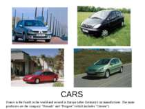 CARS France is the fourth in the world and second in Europe (after Germany) c...