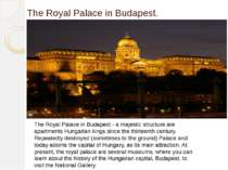 The Royal Palace in Budapest. The Royal Palace in Budapest - a majestic struc...