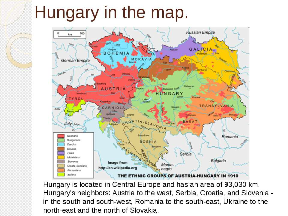 Hungary in the map. Hungary is located in Central Europe and has an area of 9...