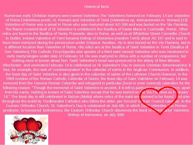 St Valentine S Day Prezentaciya Z Anglijskoyi Movi