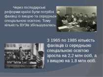 Через господарські реформи країні були потрібні фахівці із вищою та середньою...